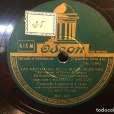 Discos de pizarra: DISCO PIZARRA- OSEON- LA MUJER - LAS MUCHACHAS DE LA PALZA DE ESPAÑA - CORRADO LOJACONO (REF-17). Lote 261843480