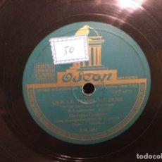 Discos de pizarra: DISCO PIZARRA - OSEON - BOLERO - QUE SE HACE LARGO EL TIEMPO - GEORGES GUETARY - ( REF,30). Lote 262006420