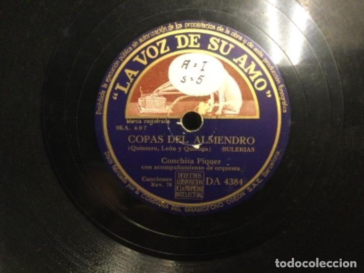 DISCO PIZARRA - LA VOZ - CONCHITA PIQUER - YO NO ME QUIERO ENTERAR - COPAS DEL ALMENDRO (REF,55) (Música - Discos - Pizarra - Flamenco, Canción española y Cuplé)