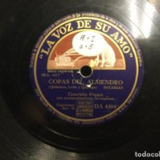Discos de pizarra: DISCO PIZARRA - LA VOZ - CONCHITA PIQUER - YO NO ME QUIERO ENTERAR - COPAS DEL ALMENDRO (REF,55). Lote 262010910
