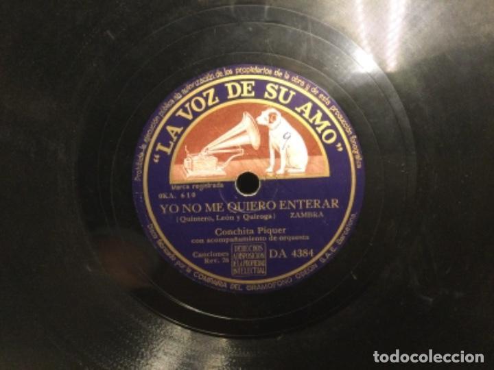Discos de pizarra: DISCO PIZARRA - LA VOZ - CONCHITA PIQUER - YO NO ME QUIERO ENTERAR - COPAS DEL ALMENDRO (Ref,55) - Foto 3 - 262010910