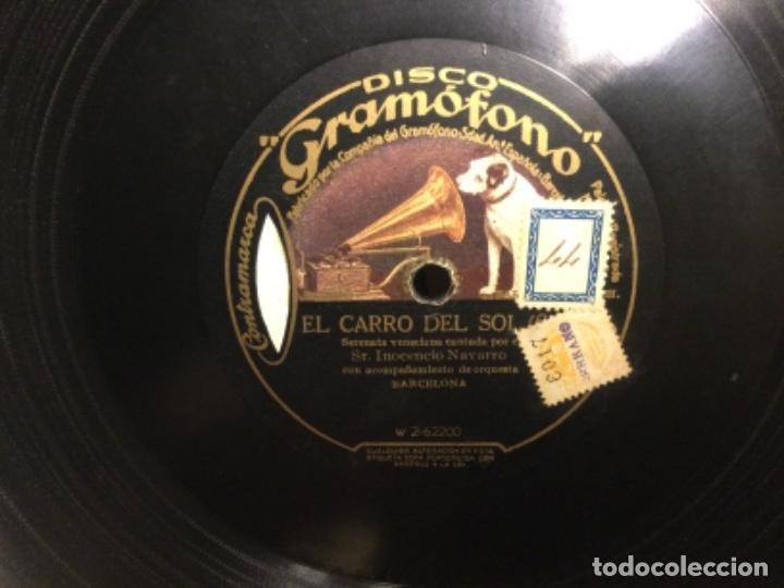 DISCO PIZARRA - LA CANCIÓN DEL OLVIDO - EL CARRO DEL SOL - INOCENCIO NAVARRO (REF,56) (Música - Discos - Pizarra - Flamenco, Canción española y Cuplé)