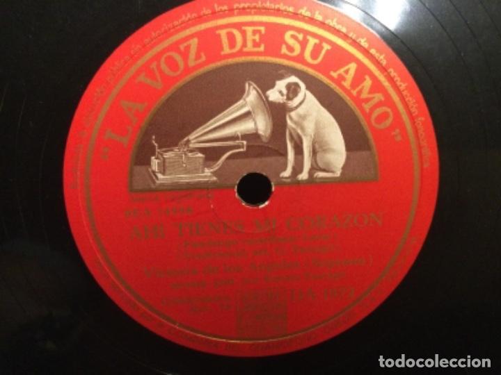 Discos de pizarra: DISCO PIZARRA - AHI TIENES MI CORAZÓN - LA VI LLORANDO - Y SE VAN LOS PASTORES - (Ref,58) - Foto 3 - 262011115
