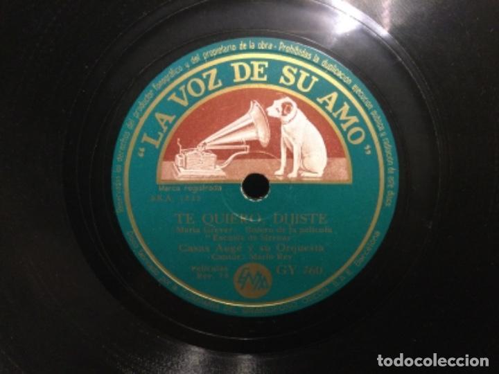 DISCO PIZARRA - ALMA LLANERA - TE QUIERO , DIJISTE - CASAS AUGE (REF,60) (Música - Discos - Pizarra - Flamenco, Canción española y Cuplé)