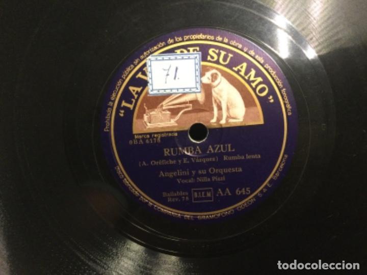 Discos de pizarra: DISCO PIZARRA - RUMBA AZUL - ANGELINI Y SU ORQUESTA - HARLEM NOCTURNO (Ref,61) - Foto 3 - 262011330