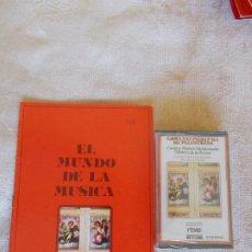 Discos de pizarra: EL MUNDO DE LA MÚSICA -CASSETTE- GIOVANN PIERLUIGI DA PALESTRINA- CANTICA MAIORIS (MOTETE DE LA PAS. Lote 262062460