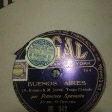 Discos de pizarra: LOTE 9 DISCOS TANGO ARGENTINO. Lote 262309735