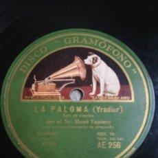 Discos de pizarra: DISCO 78RPM MOSÉ TAPIERO EL RUISEÑOR/LA PALOMA. Lote 262797210