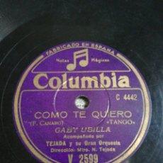 Discos de pizarra: DISCO 78RPM GABY UBILLA COMO YO TE QUIERO/NOSTALGIA. Lote 262797630