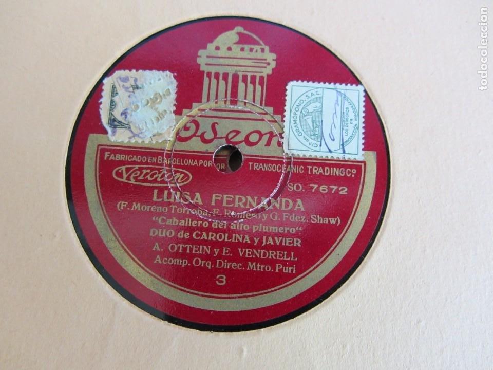 Discos de pizarra: Carpeta con 4 discos de pizarra Luisa Fernanda Odeón - Foto 9 - 262918580