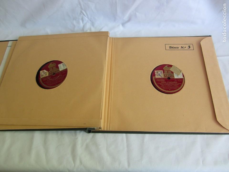 Discos de pizarra: Carpeta con 4 discos de pizarra Luisa Fernanda Odeón - Foto 10 - 262918580