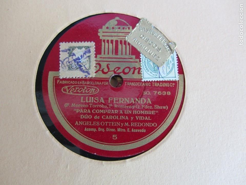 Discos de pizarra: Carpeta con 4 discos de pizarra Luisa Fernanda Odeón - Foto 11 - 262918580