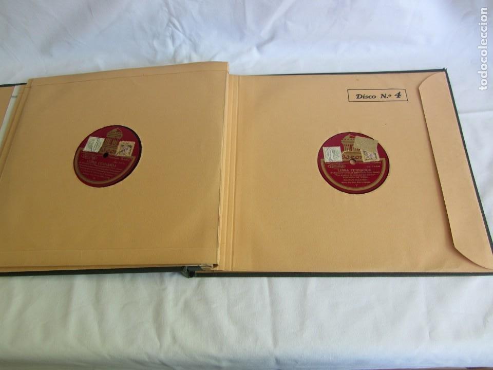 Discos de pizarra: Carpeta con 4 discos de pizarra Luisa Fernanda Odeón - Foto 12 - 262918580