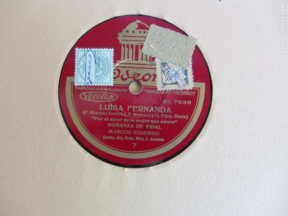 Discos de pizarra: Carpeta con 4 discos de pizarra Luisa Fernanda Odeón - Foto 13 - 262918580