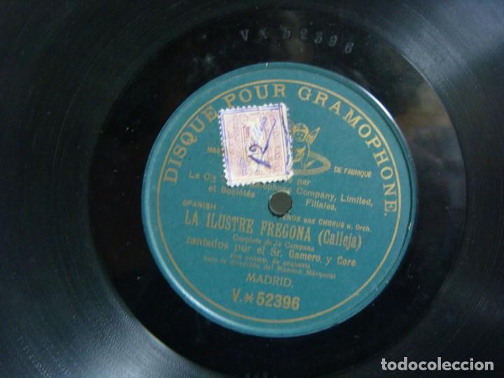 DISCO DE PIZARRA LA ILUSTRE FREGONA (CALLEJA) POR EL SR GAMERO Y CORO (&) (Música - Discos - Pizarra - Solistas Melódicos y Bailables)