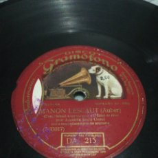 Discos de pizarra: DISCO 78RPM AMELITA GALLI CLAVELITOS / MANON LESCAUT.. Lote 263082755