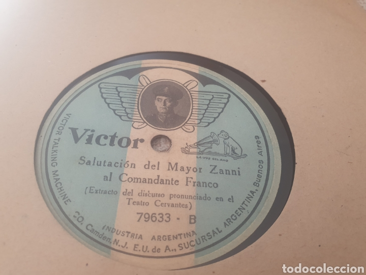 Discos de pizarra: 78 Rpm Comandante Ramón Franco - Foto 2 - 263637020