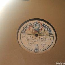 Discos de pizarra: 78 RPM COMANDANTE RAMÓN FRANCO. Lote 263637455