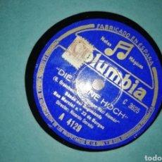 Discos de pizarra: DISCO 78RPM DIE FAHNE HOCH / CANTO DE LOS CRUCES DE FUEGO.. Lote 263687405