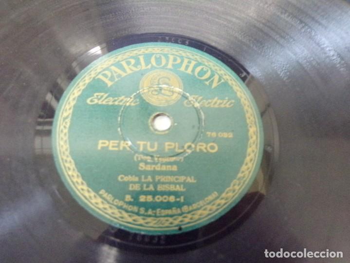 Discos de pizarra: disco pizarra Parlophon Per Tu Ploro, Toc D´Oracio (pep ventura) b. 25.006 - Foto 2 - 263784895