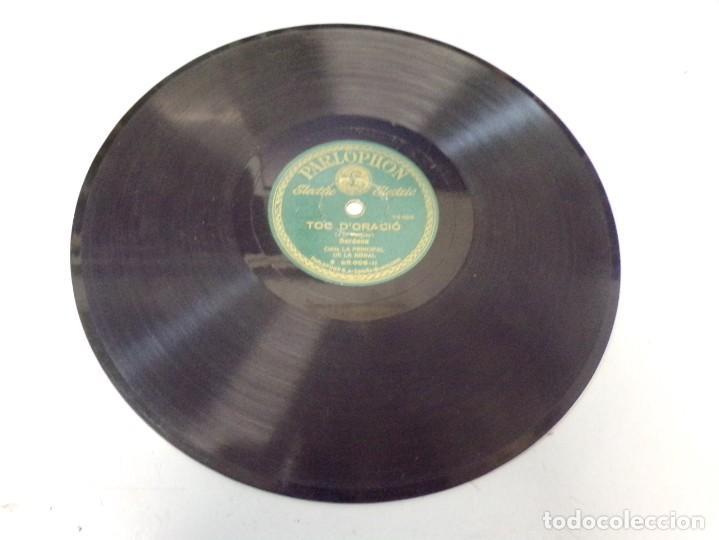 Discos de pizarra: disco pizarra Parlophon Per Tu Ploro, Toc D´Oracio (pep ventura) b. 25.006 - Foto 3 - 263784895