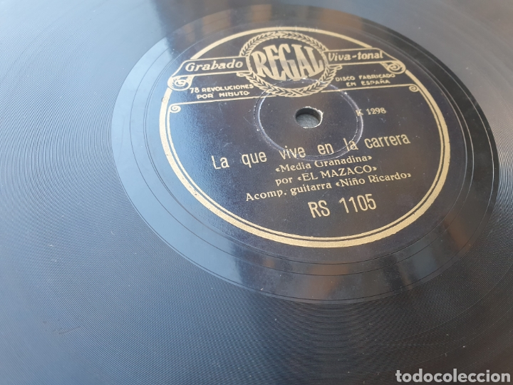 Discos de pizarra: El Mazaco 78 Rpm - Foto 2 - 263874930