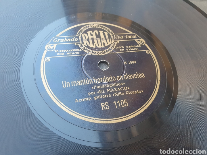 EL MAZACO 78 RPM (Música - Discos - Pizarra - Flamenco, Canción española y Cuplé)