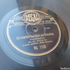 Discos de pizarra: EL MAZACO 78 RPM. Lote 263874930