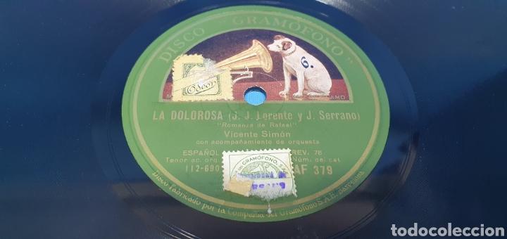 """Discos de pizarra: DISCO DE PIZARRA - LA DOLOROSA """"ROMANZA DE SAN RAFAEL"""" / """"DUO"""" - LA VOZ DE SU AMO - Foto 2 - 265440394"""