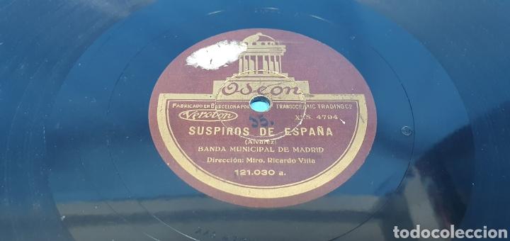 Discos de pizarra: DISCO DE PIZARRA - SUSPIROS DE ESPAÑA / ALHAMBRA - ODEON - Foto 2 - 265444474