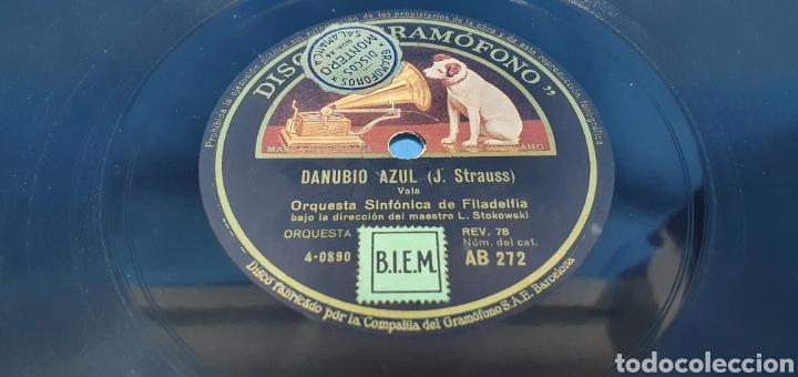 Discos de pizarra: DISCO DE PIZARRA - DANUBIO AZUL / CUENTOS DE LOS BOSQUES DE VIENA - LA VOZ DE SU AMO - Foto 2 - 265445729