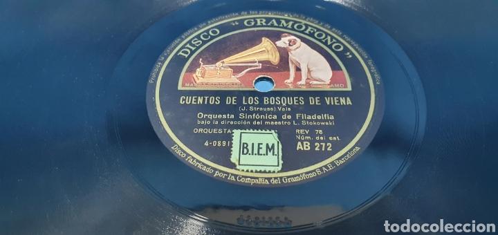 Discos de pizarra: DISCO DE PIZARRA - DANUBIO AZUL / CUENTOS DE LOS BOSQUES DE VIENA - LA VOZ DE SU AMO - Foto 4 - 265445729