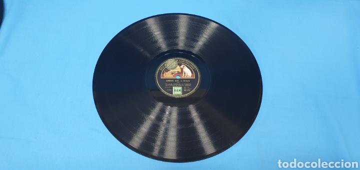 DISCO DE PIZARRA - DANUBIO AZUL / CUENTOS DE LOS BOSQUES DE VIENA - LA VOZ DE SU AMO (Música - Discos - Pizarra - Clásica, Ópera, Zarzuela y Marchas)
