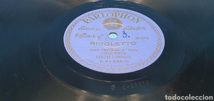 Discos de pizarra: DISCO DE PIZARRA - RIGOLETTO - GRAN FANTASÍA 1a y 2a Parte - PARLOPHON - Foto 4 - 265448739