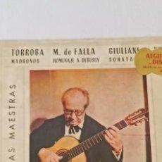 Discos de pizarra: DISCO DE GRAMÓFONO ANDRES SEGOVIA GUITARRA. Lote 265497704