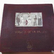 Discos de pizarra: LA VERBENA DE LA PALOMA, ODEON.. Lote 266066198