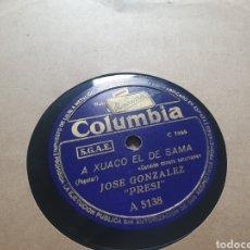 Discos de pizarra: 78 RPM FOLKLORE ASTURIANO. Lote 266427393