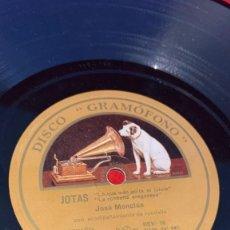 Dischi in gommalacca: DISCO DE PIZARRA JOTAS DE JOSE MONCLUS DISCO GRAMOFONO. Lote 267126209