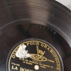Discos de pizarra: DISCO 78 RPM - GRAMOPHONE - OPERA - JOSEFINA HUGUET - LA BOHEME (PUCCINI) - PIZARRA. Lote 267504124