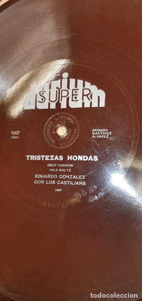 DISCO 78 RPM - DURIUM - FLEXIBLE - EDUARDO GONZÁLEZ & LOS CASTILIANS - PIZARRA (Música - Discos - Pizarra - Solistas Melódicos y Bailables)