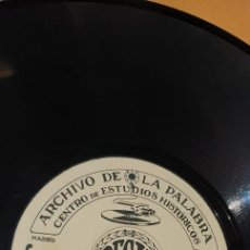 Discos de pizarra: DISCO 78 RPM - ARCHIVO DE LA PALABRA - REGAL - RAMÓN MENÉNDEZ PIDAL - PIZARRA. Lote 267506074