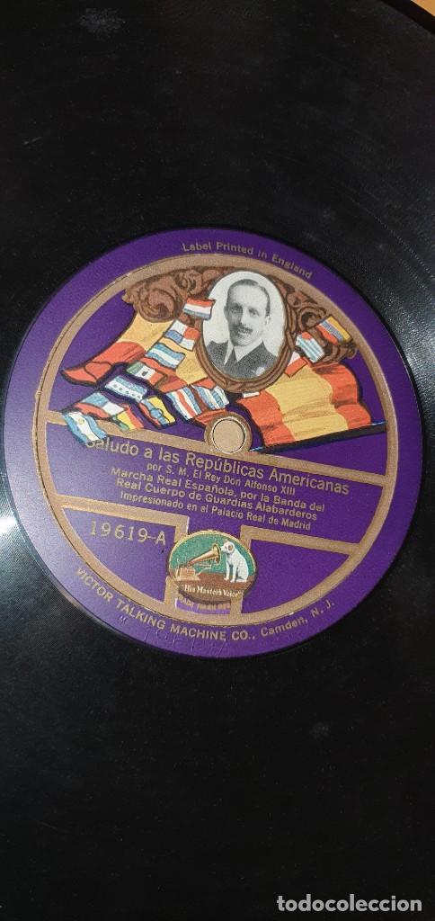 DISCO 78 RPM - ALFONSO XIII - LA VOZ DE SU AMO - ALOCUCIÓN AL PUEBLO ESPAÑOL - PIZARRA (Música - Discos - Pizarra - Otros estilos)