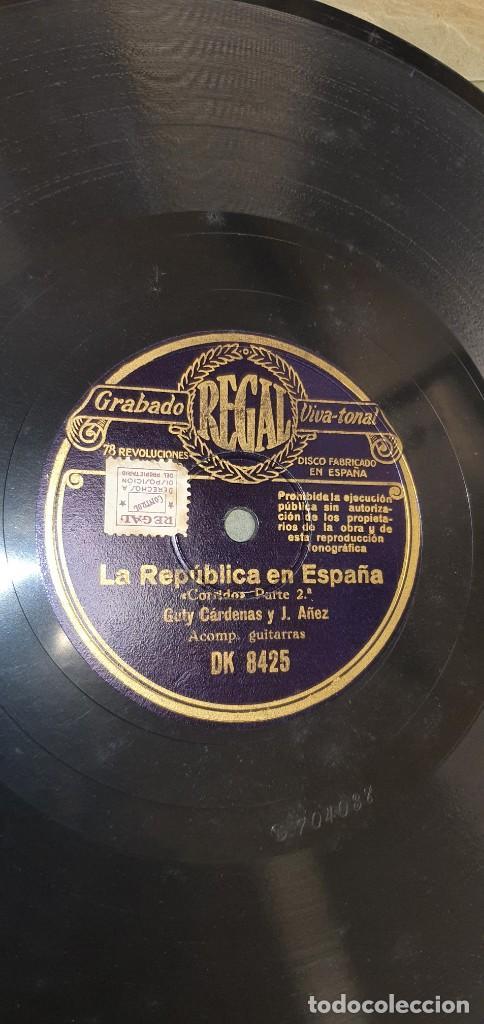 Discos de pizarra: DISCO 78 RPM - GUTY CÁRDENAS & J. AÑEZ CON GUITARRAS - LA REPÚBLICA EN ESPAÑA - PIZARRA - Foto 2 - 267509534
