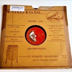 Disques en gomme-laque: PIZARRA 78 RPM. Lote 268115594