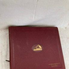 Disques en gomme-laque: ALBUM CON 10 DISCOS DE PIZARRA!GRAMOFONO!. Lote 269122798
