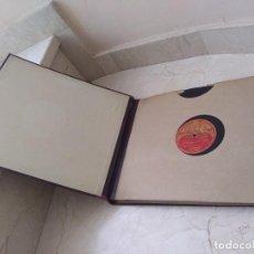 Disques en gomme-laque: ALBUM ANTIGUO CON DISCOS DE PIZARRA PARA GRAMÓFONO. Lote 269146193