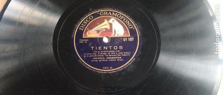 Discos de pizarra: DISCO DE PIZARRA, SEVILLANAS IMPERIO/ TIENTOS. IMPERIO ARGENTINA. PELÍCULA LA HERMANA SAN SULPICIO. - Foto 4 - 270637743
