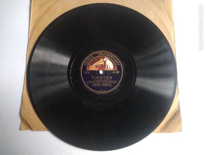 DISCO DE PIZARRA, SEVILLANAS IMPERIO/ TIENTOS. IMPERIO ARGENTINA. PELÍCULA LA HERMANA SAN SULPICIO. (Música - Discos - Pizarra - Flamenco, Canción española y Cuplé)