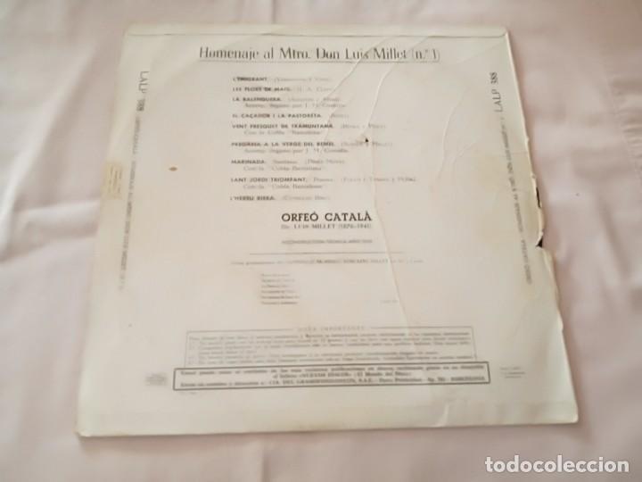 """Discos de pizarra: Disco de pizarra """"La voz de su amo"""" Orfeó Catala homenaje a Don Luis Millet - Foto 2 - 270889848"""