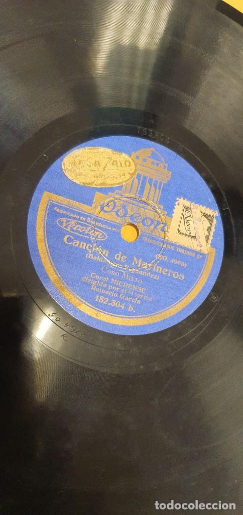 Discos de pizarra: DISCO 78 RPM - CORAL MIERENSE - ASTURIAS - REINERIO GARCÍA - CANCIÓN DE MARINEROS - PIZARRA - Foto 2 - 271009353